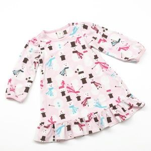 Old Navy fleece toddler snowman pajama nightgown